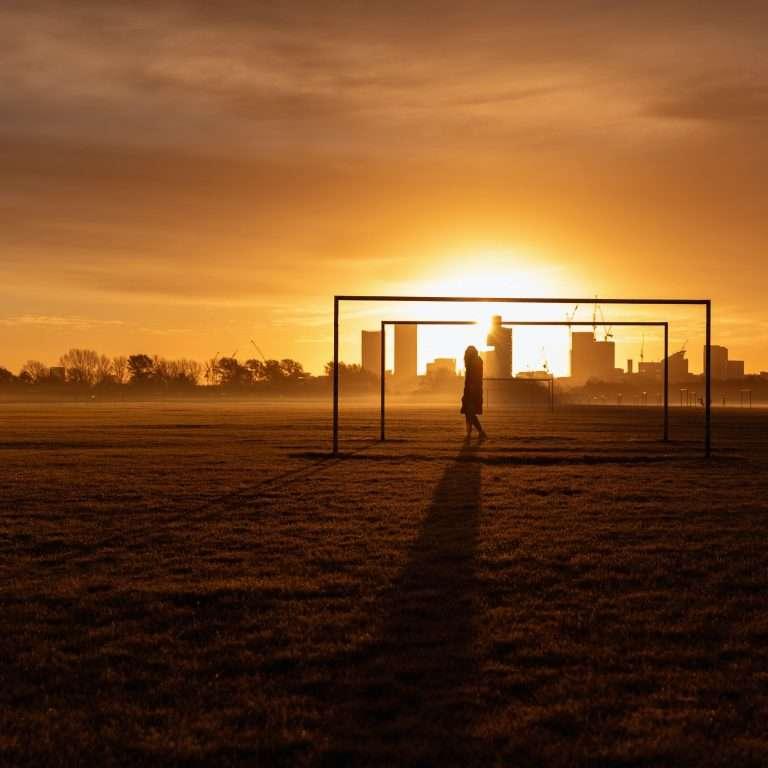 sunset city walk